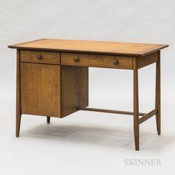 """Henredon """"Circa 60"""" Walnut Desk"""