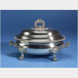 English Sheffield Plate Covered Tureen