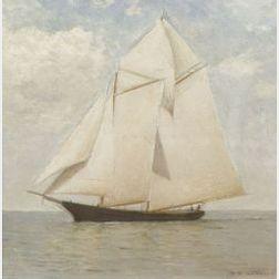 Charles D. Cahoon (American, 1861-1951)  At Full Sail