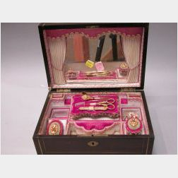 Elaborate Boxed Set of Sewing Accessories