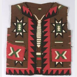 Southwest Pictorial Germantown Yarn Vest