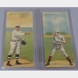 Two 1911 T201 Mecca Cigarettes Double Folder Baseball Cards