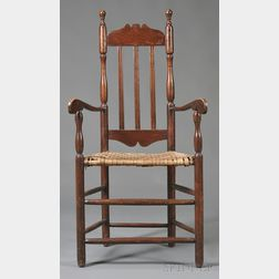 Maple and Pine Bannister-back Armchair