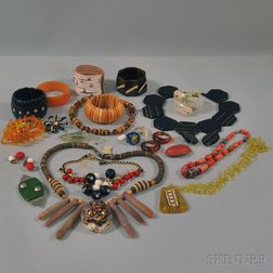 Collection of Bakelite and Costume Jewelry