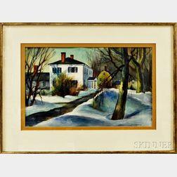 Stephen George Maniatty (American, 1910-1984)      Manor House in Snow