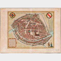 Strasbourg, View. Braun & Hogenberg. Argentoratum, cuius ob antiquitatem Ptolemaeus, c. 1600.