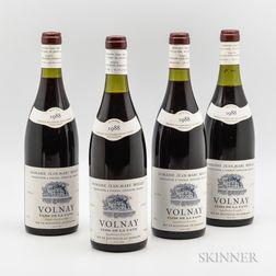JM Bouley Volnay Clos de la Cave 1988, 4 bottles