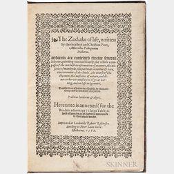 Palingenio Stellato, Marcello (c. 1500-1543) The Zodiake of Life.