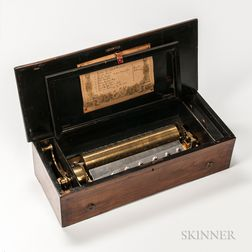 Eight-air Lever-wind Cylinder Musical Box