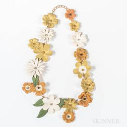 Sandor Enameled Floral Necklace