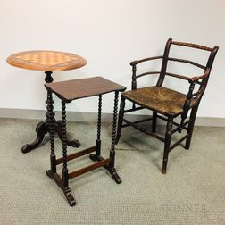 Three Pieces of Victorian and Victorian-style Furniture