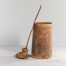 Carved Tree Trunk Barrel