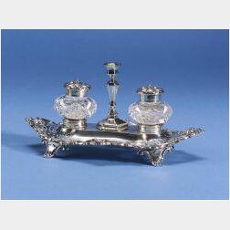 Victorian Silver Standish