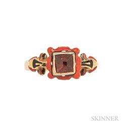 Renaissance Revival Gold, Enamel, and Gem-set Ring