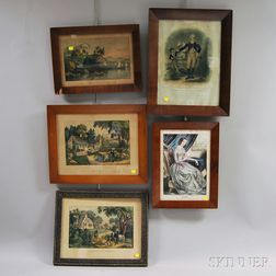 Five Framed Chromolithographs