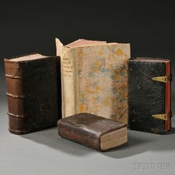 Catholic Devotional and Historical Books, 1599-1743, Four Volumes.