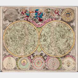 Celestial Chart. Matthias Seutter (1678-1757) Planisphaerium Coeleste.
