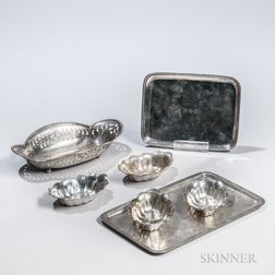 Seven Pieces of Tiffany & Co. Sterling Silver Tableware