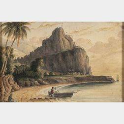 John Herbert Caddy (Canadian, 1801-1887), Three Topographical Views of the West Indies: Two Depicting Brimstone Hill, St. Kitts, One De