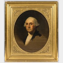 Jane Stuart (Rhode Island/Massachusetts, 1812-1888)      Portrait of George Washington After Gilbert Stuart
