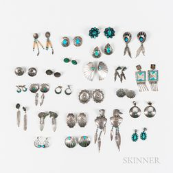 Thirty-five Pairs of Southwest Earrings