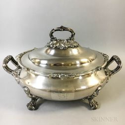 Large Silver-plated Tureen