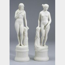 Two Parian Figures of Women