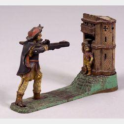 "Stevens & Co. ""William Tell"" Cast-Iron Mechanical Bank"