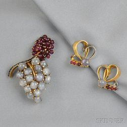 18kt Gold, Star Sapphire, and Ruby Suite