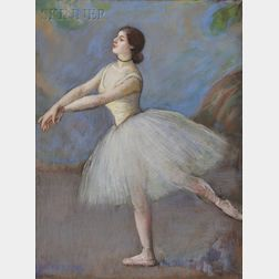Louis Kronberg (American, 1872-1965)      Dancer in White- Mlle. Cébron, Opera House, Paris