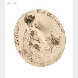 Jacques Villon (French, 1875-1963)      Adresse Sagot