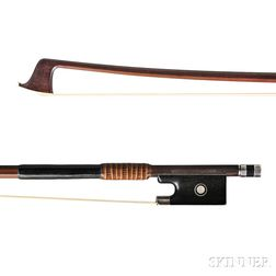 Silver-mounted Violin Bow, Franz Albert Nurnberger II