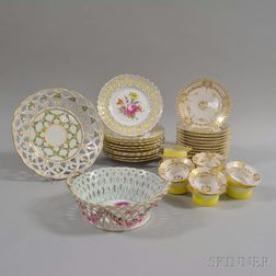 Thirty-five German Porcelain Dishes