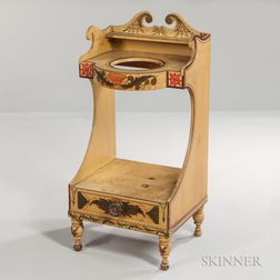 Yellow-painted Washstand