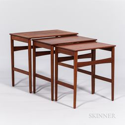Three Hans J. Wegner (1914-2007) for Andreas Tuck Nesting Tables