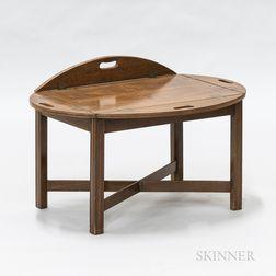 Georgian-style Mahogany Butler's Tray Table
