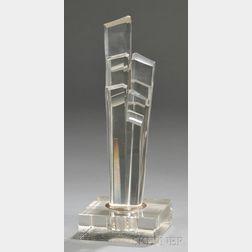 Colorless Art Glass Sculpture