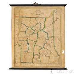 Vermont and New Hampshire. Lewis Robinson (1793-1871) Map of Vermont & New Hampshire.