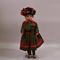 Simon & Halbig No. 1358 Bisque Head Black Character Doll