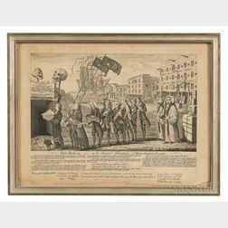 "Engraved ""The Repeal, or the Funeral Procession of Miss Americ-Stamp""   Print"