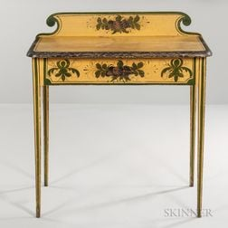 Yellow-painted Dressing Table