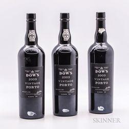 Dows Vintage Port 2003, 3 bottles