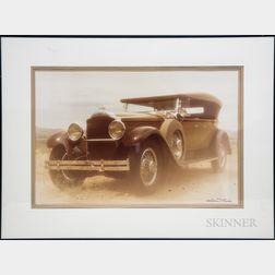 William Plante (American, 20th Century)      1929 Packard Phaeton.
