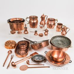 Group of Copper Cookware
