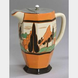 Clarice Cliff Pottery Hot Water Pitcher