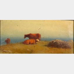 Charles Henry Gifford (American, 1839-1904)    Cattle at Pasture