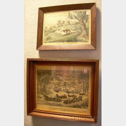 Lot of Two Currier & Ives Small Folio Prints