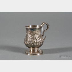 Samuel Kirk Late Federal Repousse Coin Silver Mug