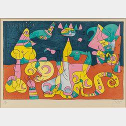 Joan Miró (Spanish, 1893-1983)      Plate