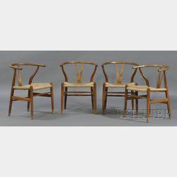 Four Hans Wegner Chairs
